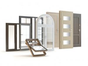 Doors And Windows White Backgroud