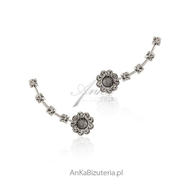 AnKa Biżuteria Modne nausznice srebrne cyrkonie Cena za Parę!